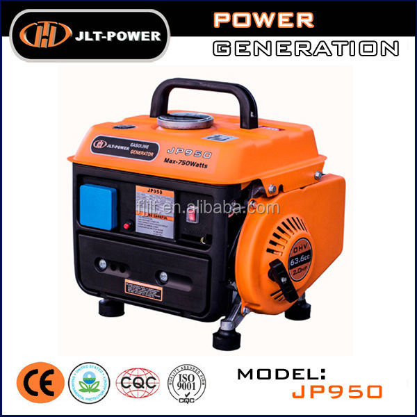Hot sale! small portable gasoline generator spare parts electric generators for camping 650w factory price from JLT Power JP950