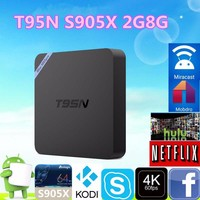 2017 Alibaba Wholesale Android 6.0 2G 8G T95N S905X Android TV Box T95N MINI M8S PRO OEM