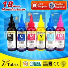 Bottle ink refill for canon printer/ 100ml bulk ink/ refillable cartridge ink for Epson L800 UV Resistant