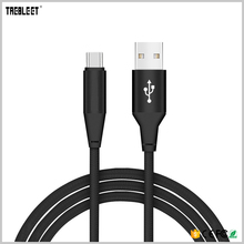 Hot Sale Quick Charging Type C Cable Black 6FT 10FT Nylon Braided USB 2.0 Sync Cord For Mobile Phone