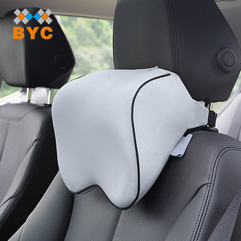 BYC Rohs Test Car Neck Pillow Manufacturer Adjustable Belt 70D Memory Foam Neck Pillow