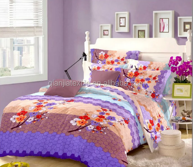 polyester 90gsm disperse printing bed cover set bedding set