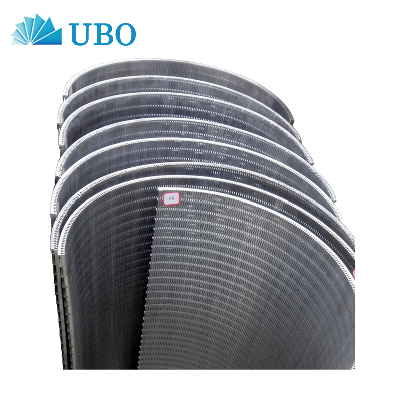 Stainless steel johnson v wire static curve parabolic screen panel