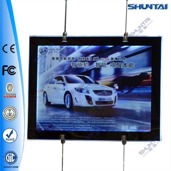 magnetic open led crystal frameless A2 advert light box