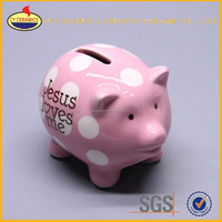 Hand Painted Wholesale Ceramic Piggy Bank