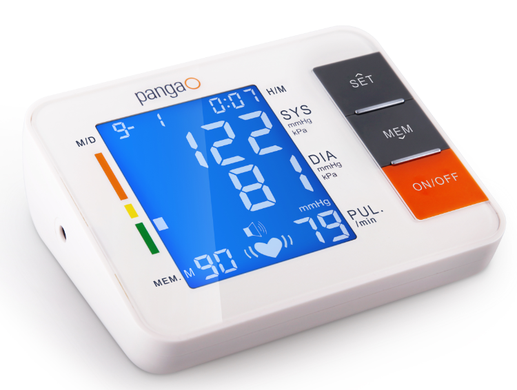 A Digital blood pressure monitor, Free Arm Ambulatory Blood pressure Machine Meter for blood pressure checking