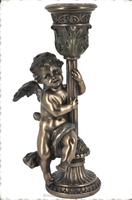 New designs bronze cherub flower pot stand indoor decor