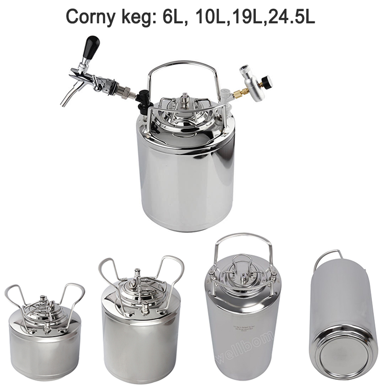 5 gallon 19L Stainless steel Ball Lock Cornelius Style Homebrew Beer OB Keg With Metal Handles