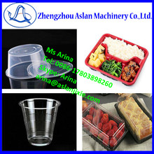 snack food plastic container thermoforming machine/plastic fruit case making machine/ plastic cake box forming machine