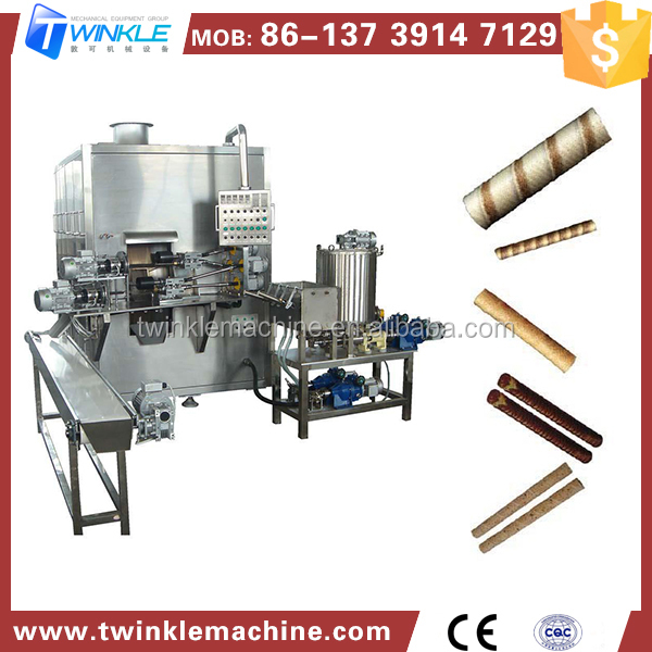 Alibaba China Supplier Automatic Egg Roll Wafer Stick Maker Machine