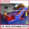 2014 new inflatable car slide inflatable red and blue slide jumping slide for sale