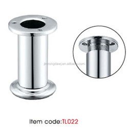 Made in China high quality round straight adjustable furniture metal leg for cabinet