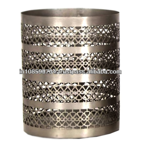 Metal Round Votive For Candle Holder