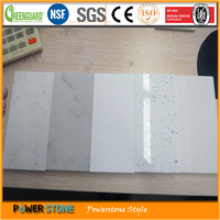 White Mirror Fleck Effort White Sparkle Quartz Stone Countertop