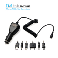 Fashionable 6 in 1 charger kit with USB cable car charger For Cell Phone