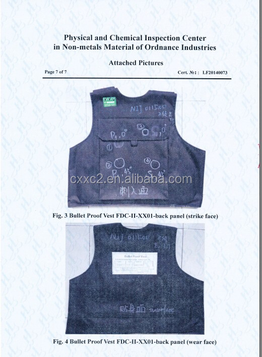 Tactical Aramid Bulletproof Vest with MOLLE from China XinXing