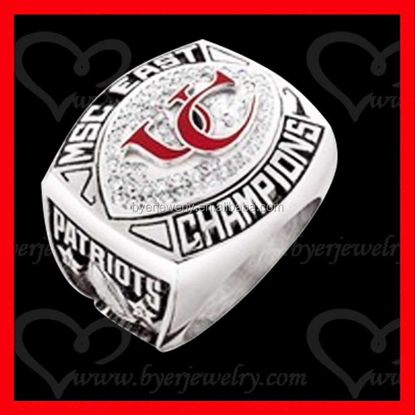 Wholesale Alibaba Supplier Stainless Steel stainless steel custom football championship ring