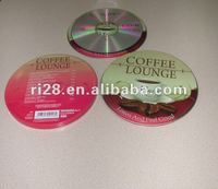 Round tin single CD box
