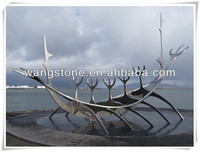 WS-ST257 Sailing Boat Stainless Steel Sculpture