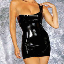 Latex Mini Dress Sexy Lingerie Rubber Fun Fancy Dress Exotic Apparel Costumes Catsuit