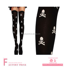 Wholesale suspender tights skull stocking sheer stockings for sale