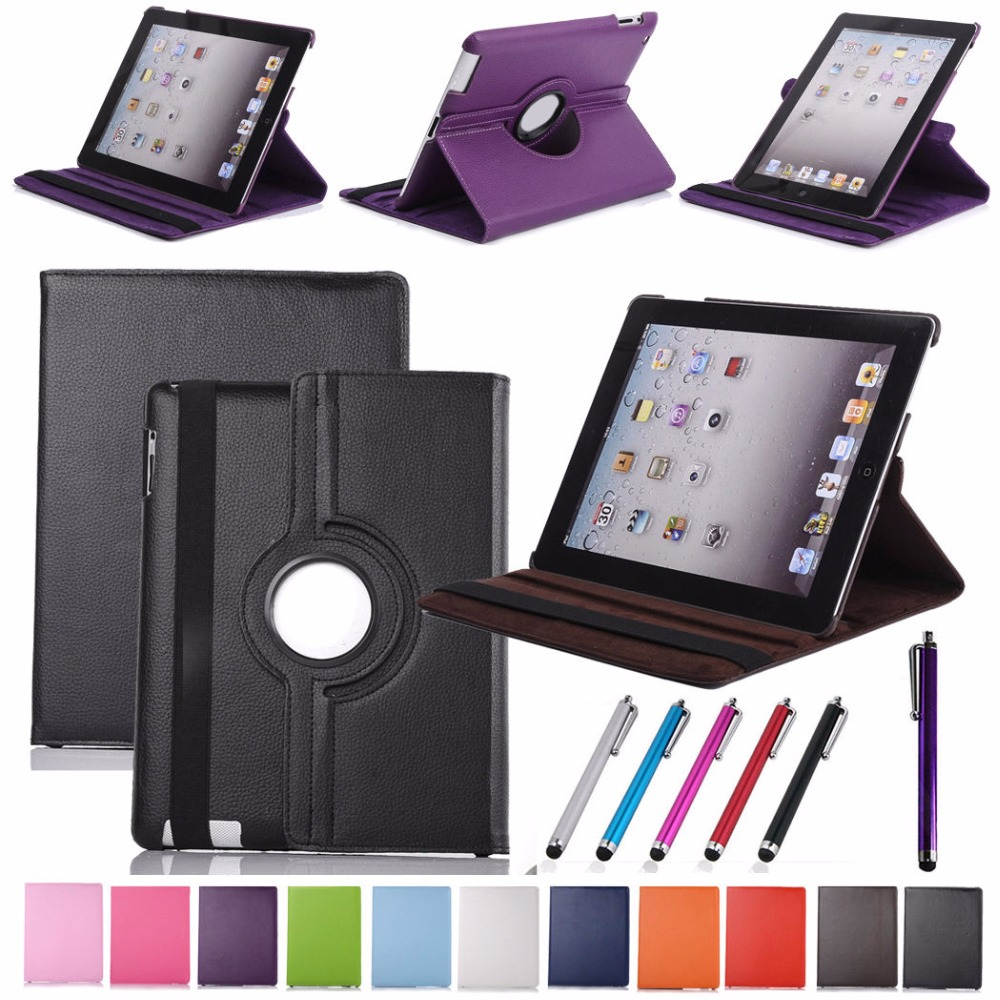 Fold Stand PU Leather Case Back Hard Cover Case for iPad