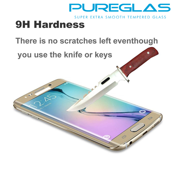 Mobile Phone Tempered Glass Protective Film 3D Curved Screen Protector for S7 Edge