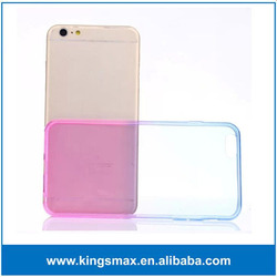 Hot Selling Ultra-thin Hyaline Colorful Slim Gradient TPU Back Cover Case For Apple iPhone 6 plus 5.5