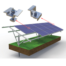 Ground-Mounted Residential Solar Panel System Racking 1000W 3000W