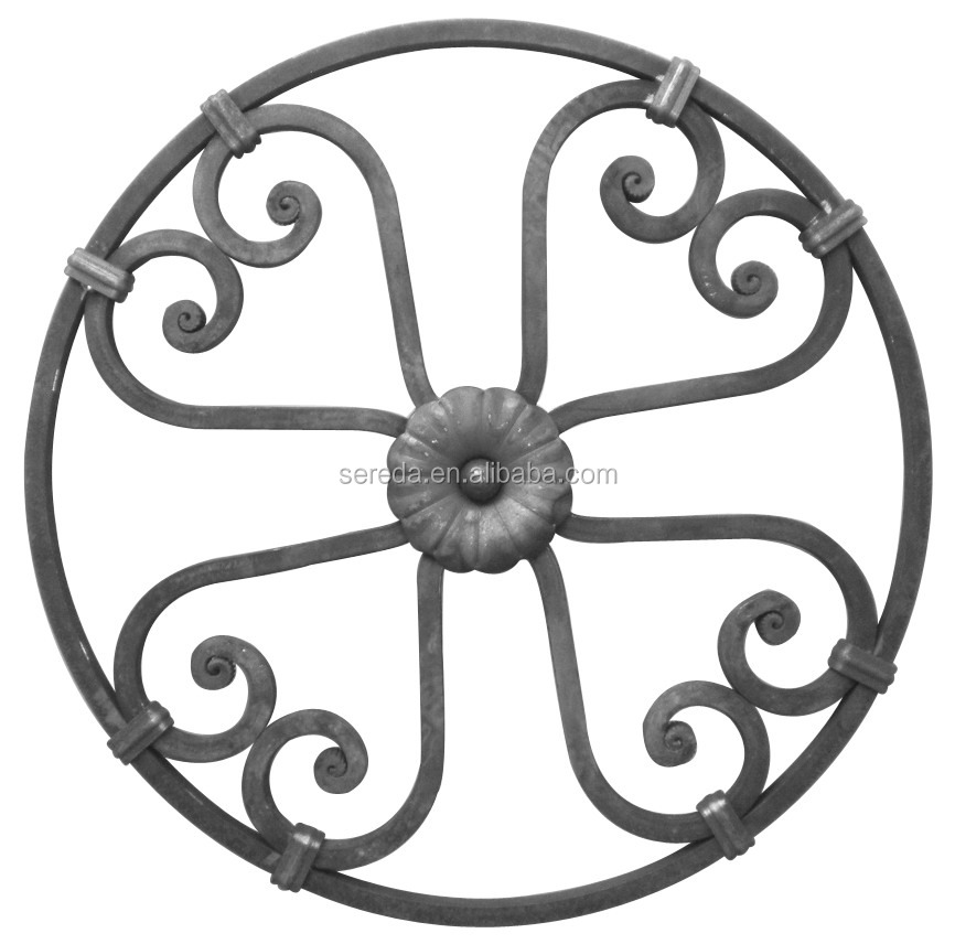 Ornamental Forged Round Iron Rosettes 2240