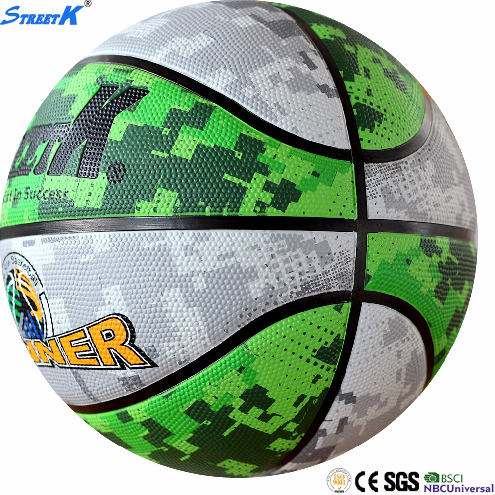 2017 cheap price rubber basketball ball custom printed rubber full-color basketball