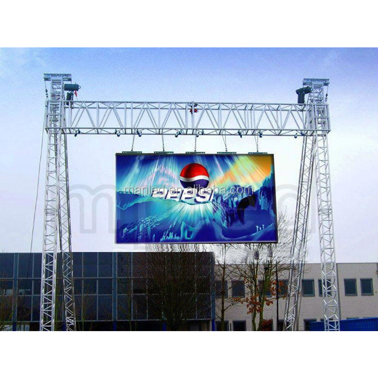 High quality outdoor led display full color tube chip color video display function rental display screen
