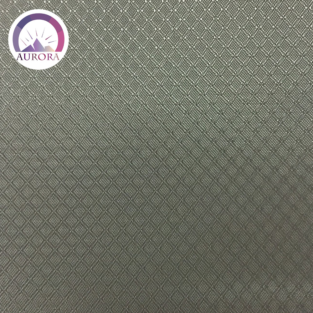 Korea High Quality--Polyester 330D Double Lozenge Rip fabric PU coating 58""