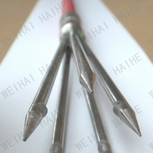 5 Sharp Sprongs 2 Pieces solid fibre glass Hand Spear