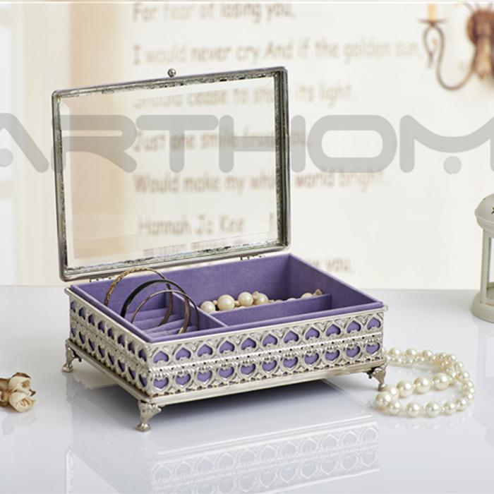 Various Styles Exquisite Pretty And Colorful Mirrored Jewelry Box