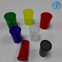 Herb Plastic Medical Pill Bottle Pop Top Storage Containers