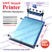 MD-L 45 * 60 cm Manual PCB Screen Printing Machine / smt solder paste printing machine , MINGDA Solder Paste Stencil Printer