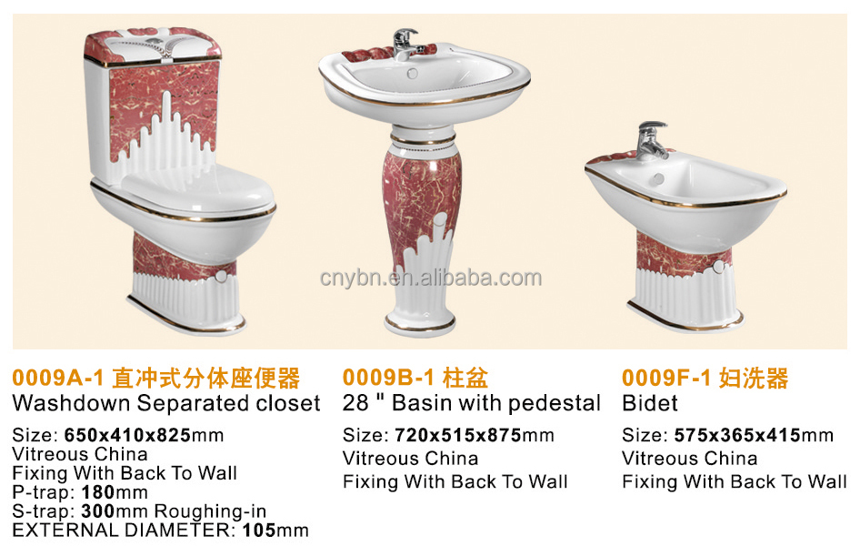 Ceramic Luxury Sanitary Ware Decorated Two Piece Toilet
