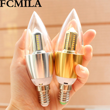 New design item Glass Housing A60 2.2W gold LED candle lights 220-240V 3.5W E14 Gold Silver body Crystal C37 LED candle lamp