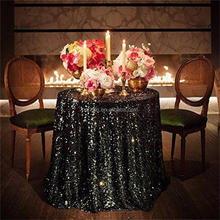 silver champagne cream white glitter sequin table cloth for wedding printed stretch cover