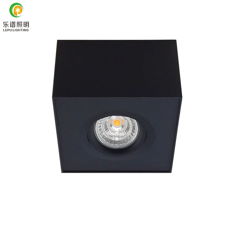 High quatlity Norge GYRO surface dimmable led downlights black 9w dim warm 2000-2800k