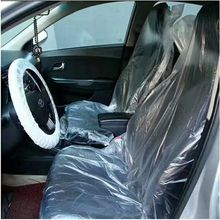 PE disposable plastic and temporary waterproof car seat cover
