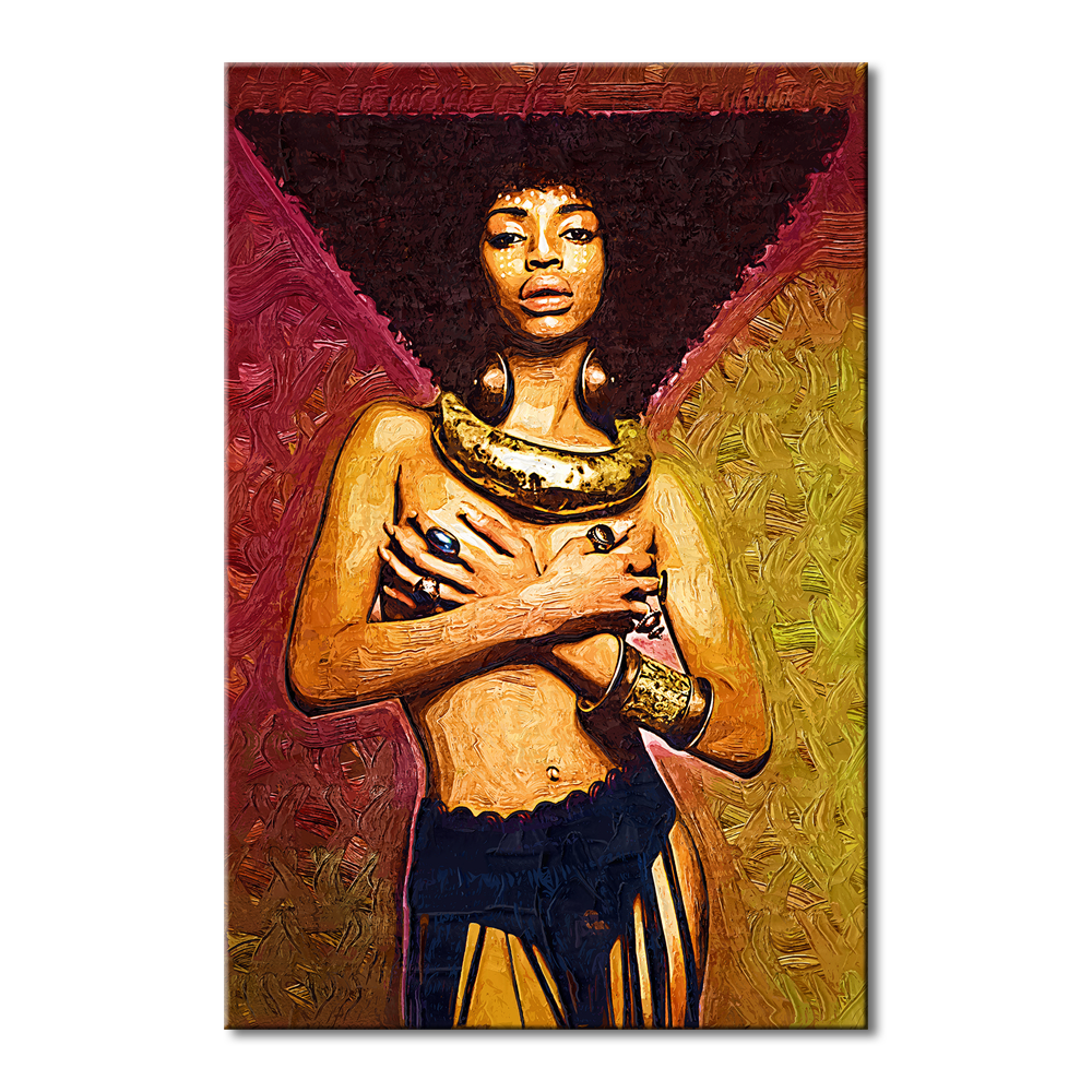 100%handmade copy famous artist painting nude african woman body painting oil painting