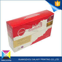 Custom made promotional practical cardboard carrying packaging box with plastic handle