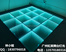 Disco Party DJ stage equipment 3D Magic mirror effect LED RGB Abyss dance floor panel
