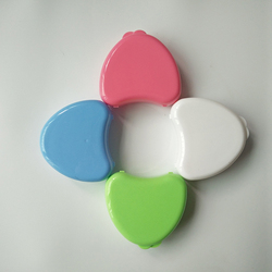 Plastic Colorful Heart Shaped Dental Retainer Box/Denture Container/Teeth Retainer