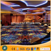 Top Grade quality colorful design Nylon printed Carpet wall to wall for KTV room ,Fireproof carpet