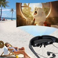 9 Inch Virtual Digital Portable Video Glasses Personal Theater Widescreen with 3D Stereo Sound for TV BOX/ PSP