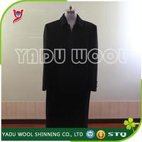 OEM 2016 high quality men Winter Designs Long Slim Wool Coats