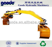Hydraulic 2 tines Rotated Grapples Crane For Scrap Metal